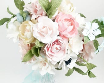 The East Coast Bride - Winter Berries - Paper Bouquet - Customize your Style and Colors - Made To Order