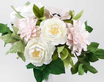 The Maritime Bride -  Paper Bouquet - Customize your Style and Colors - Made To Order