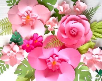 Extra Large Paper Flower Backdrop - Nursery - Room - Event Decor - Tropical Vibes - Girl Bedroom - Custom Order