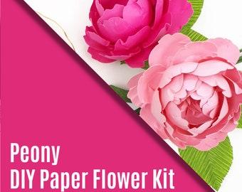 Paper Peony DIY Kit and Tutorial