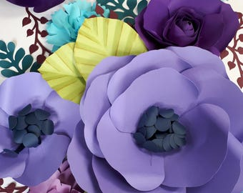 Extra large Paper Flower Backdrop - Nursery Decor - Anthropologie Meze bedding Inspired - Girl Bedroom - Custom Order