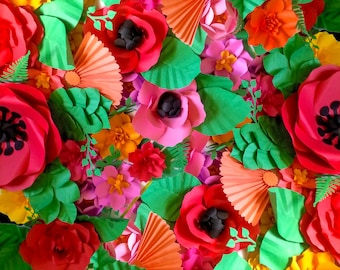 FLAMENCO Spanish Dance Inspired Extra large Paper Flower Backdrop or Custom Colors