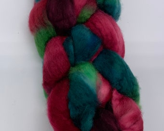 BFL Wool Roving 4 ounce - hand painted from for Rug Hooking, spinning, felting & more!!