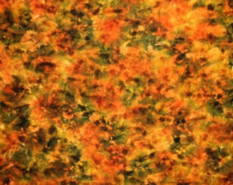 October  - Spot hand dyed rug hooking wool fabric -  Fat Quarter