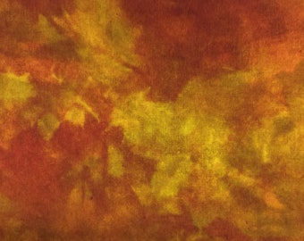 Paprika Spice - hand dyed rug hooking wool fabric 1/4 yard