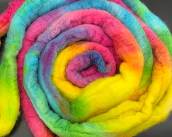 Studio Dyed Roving -  BFL or Mixed BFL or Organic Polwarth  - 4 ounce - Colorway Physchic