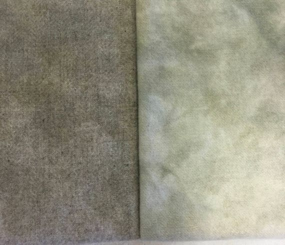 "1 hand dyed rug hooking wool fabric - /""Green Garnet Fat Quarter 100/% Wool"