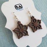 Small/Med Rochester, New York Logo Inspired Earrings, flower city earrings, custom, wooden