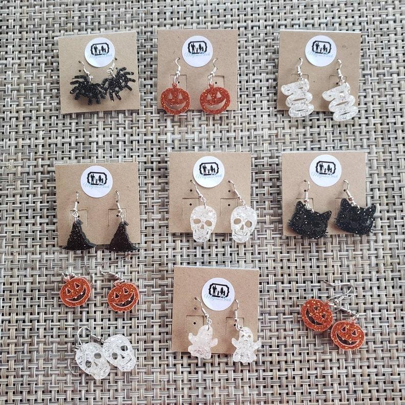 Halloween Earrings  Med/Small  Dangle Earrings  Light image 0