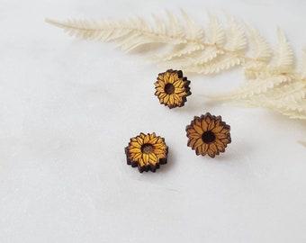 Sunflower Stud Earrings,  Lightweight, heart earrings, Acrylic Earrings, Popular Earrings, Gift Idea
