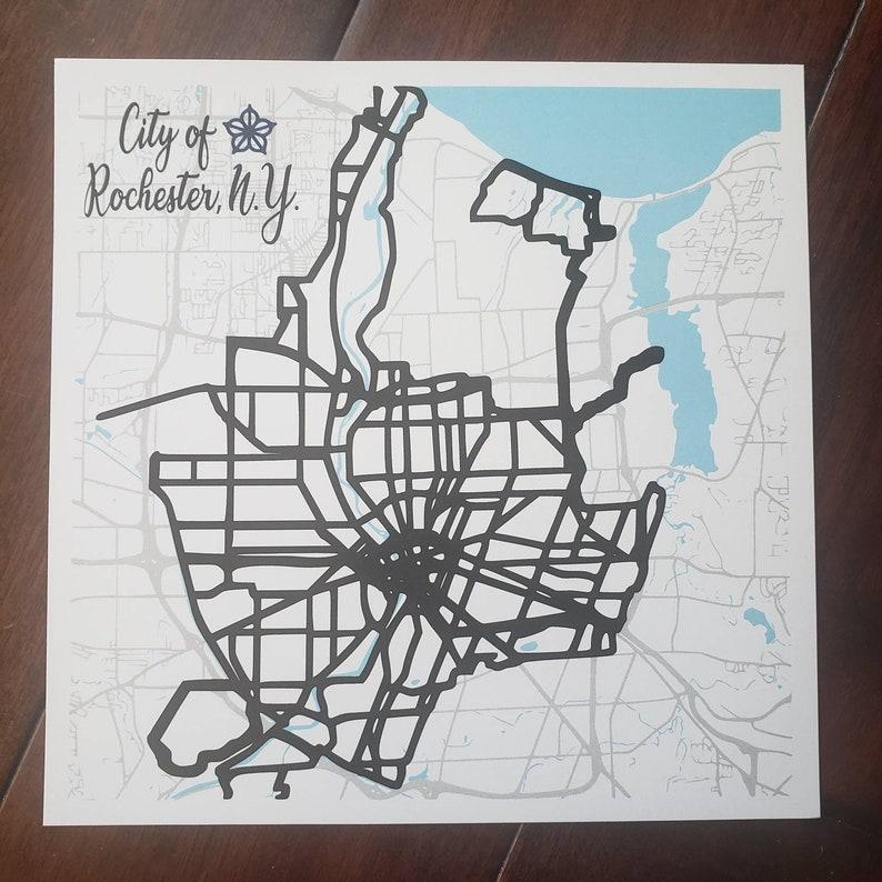 Rochester NY City of Rochester Map Street Art City Art image 0