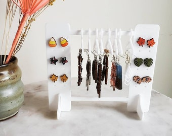 May and birch earring holder, coat hanger, earring rack, Acrylic earring holder, earring rack holder