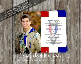 Eagle Scout Invitations Etsy