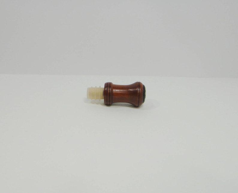 Paduak Wood Bottle Stopper Dichroic  Glass Cabochon