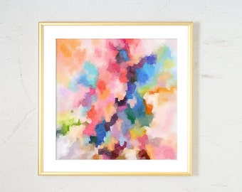 Watercolor Print, Pink abstract print, Office Decor, Watercolor painting Wall Art, abstract watercolor, Girl Nursery Art Print, abstract art
