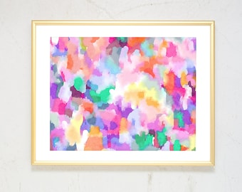 Girl Nursery Wall Art, Large Abstract Art, Pink Nursery Decor, Watercolor Nursery Art Print, Boho Decor, watercolor print abstract painting