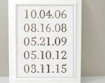 Important Date Sign, What a Difference a Day Makes, Special Date print, Anniversary Gift, Gift for Best Friend, Important Date Print,