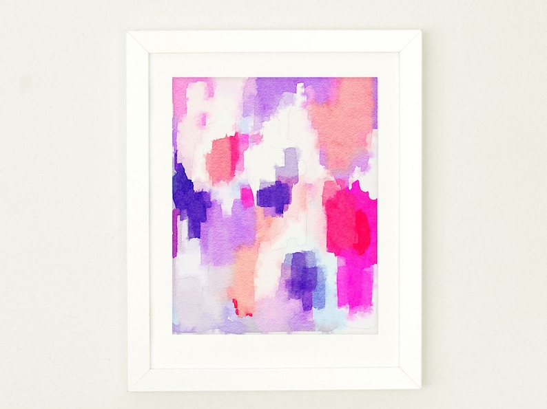 Watercolor Nursery Wall Art for Girls Abstract Watercolor Art image 0