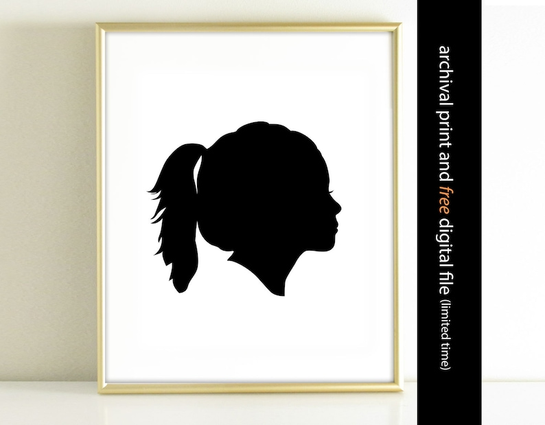 Face home decor Custom Silhouette Art Print made from your image 0