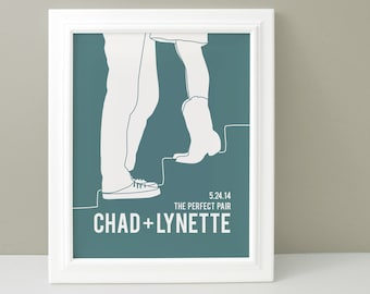 Personalized Engagement Gift, Engagement gift for Couple, Bridal Shower Gift, Wedding Gift for Couple, Wedding Shower Gift Couple Silhouette