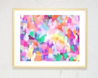 Girl Nursery Wall Art, Large Abstract Art, Pink Nursery Decor, Watercolor Nursery Art Print, Boho Decor, watercolor print abstract painting