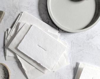 Happy Holidays, Letterpress Mini Card on Handmade Paper