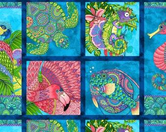 Wilmington Prints Paradise Falls Multi Craft Panel Fabric - 1 panel