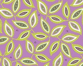 Quilting Treasures Devon Leaves Light Raspberry fabric - 1 yard