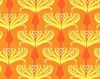 Michael Miller Pirouette Orange fabric - 1 yard