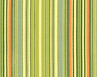 Amy Butler Lotus Green Oxford Stripe fabric - 1 Yard 24 inches - last piece