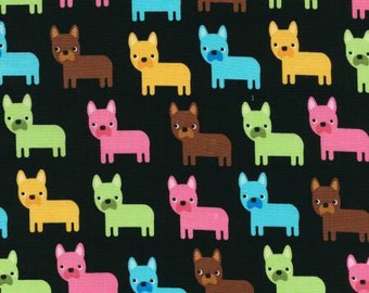 Robert Kaufman Urban Zoology Collection Bright Dogs Fabric - 1 yard