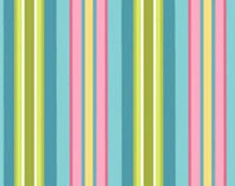 Riley Blake Designs Bohemian Festival Blue Stripe Fabric - 1 yard