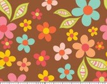 Riley Blake Designs Sweet Nothings Fabric Brown Floral - 1 yard