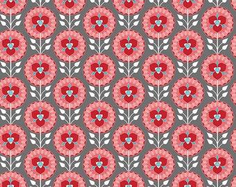 Riley Blake Designs Desert Bloom Desert Medallion Gray Fabric - 1 yard