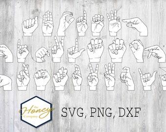 Sign Language Svg Etsy