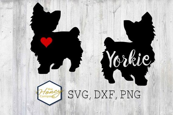 Yorkie Svg Png Dxf Terrier Dog Breed Lover Outline Instant Etsy