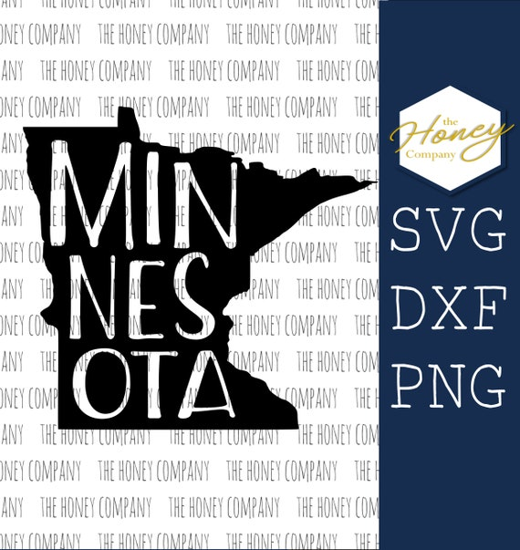 Minnesota SVG PNG DXF State Outline Instant Download Silhouette Cricut Cut  Files Cutting Machine Vector File