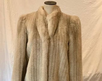 Vintage Sasson Juniors Long Evening Coat Faux Fur