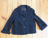 Vintage Joseph Horne Co.Curly Lamb Woold 1950s-60s Cropped Coat