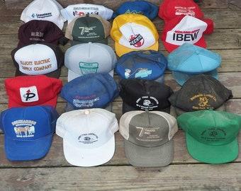 Vintage Plano Patch Mesh Adjustable Snapback Trucker Hat Cap