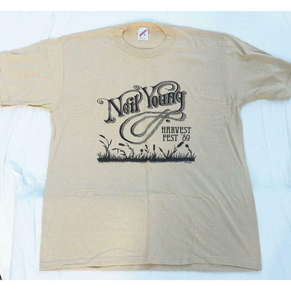 1989 Neil Young Concert Tour Shirt Size XL Vintage