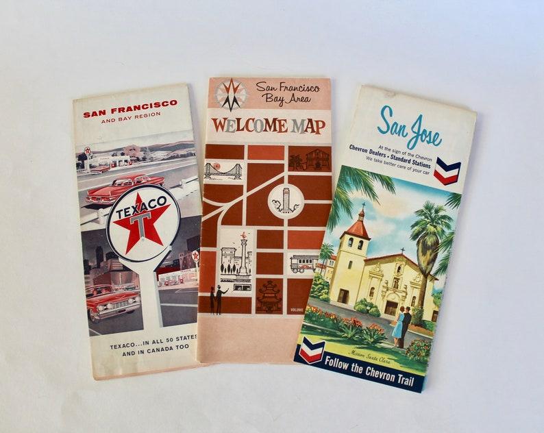 Vintage 1950's San Francisco/Bay Area Gas Station Road | Etsy on