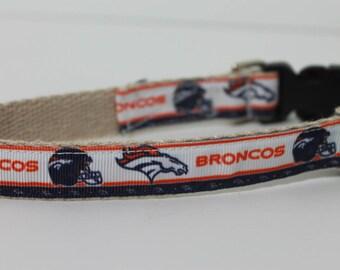 Denver Broncos hemp dog collar or leash