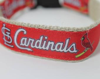 St. Louis Cardinals hemp dog collar or leash