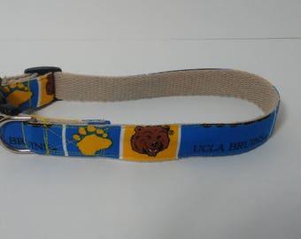 UCLA Bruins hemp dog collar or leash