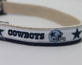 Dallas Cowboys hemp dog collar or leash