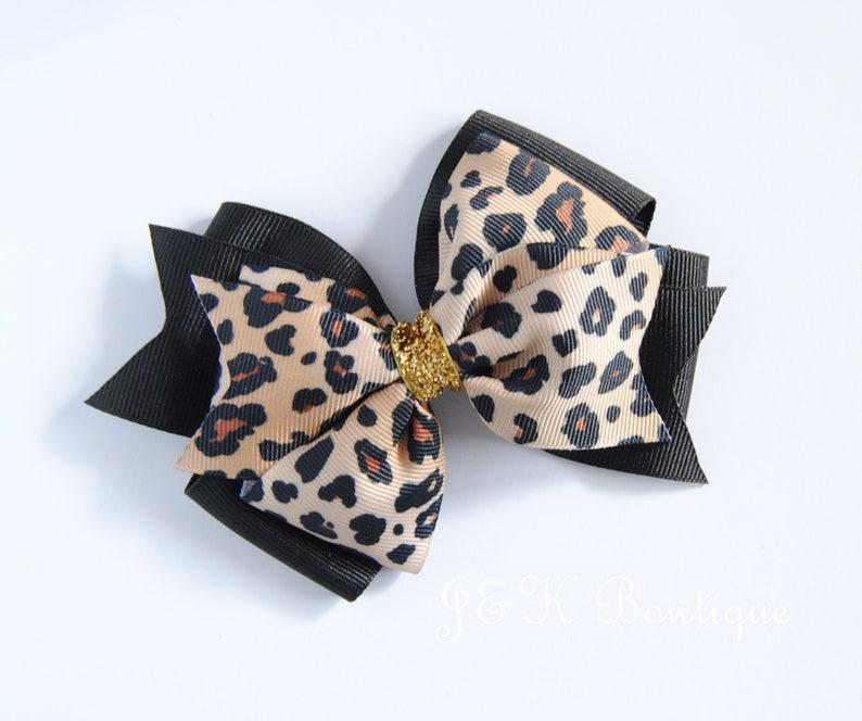 c4678aad3c8 Leopard print Hair bow Leopard hair bow animal print hair