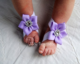 Baby Barefoot Sandals, newborn barefoot sandals, Baby sandals, barefoot sandals, Baby Crib shoes, Baby girl accessories, baby shoes