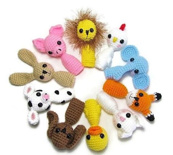 Crochet Tier Fingerpuppe Fingerpuppen häkeln Fingerpuppe | Etsy