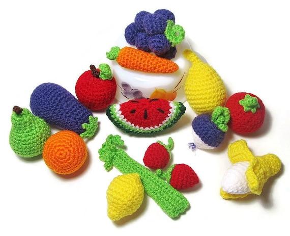 12 Stück Von Häkeln Spielen Essen Crochet Obst Gemüse Etsy